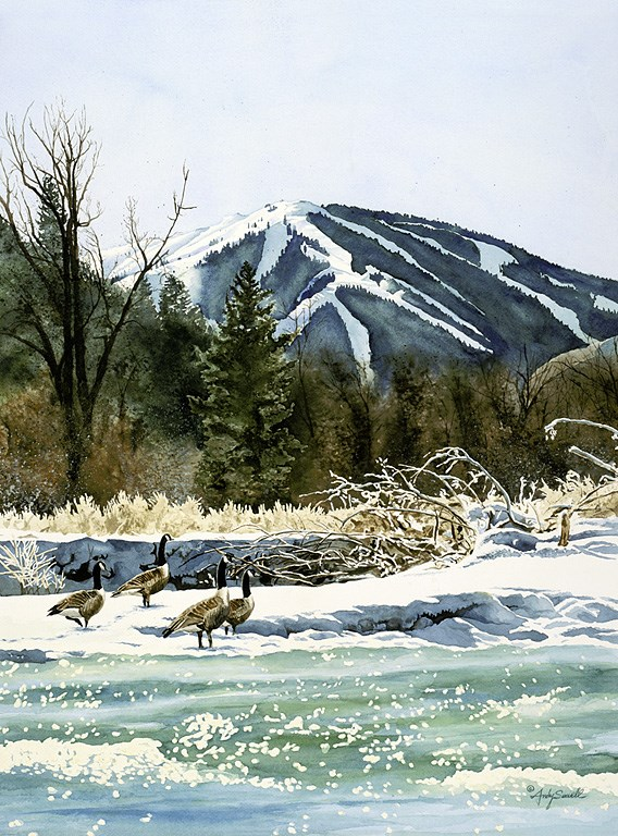 """Valley Honkers"" original fine art by Andy Sewell"