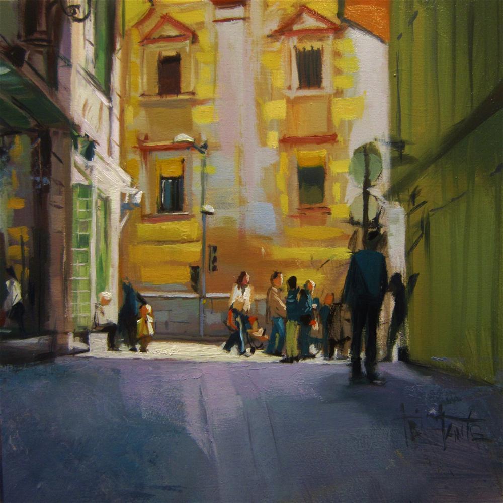 """""""Lights in the corner"""" original fine art by Víctor Tristante"""