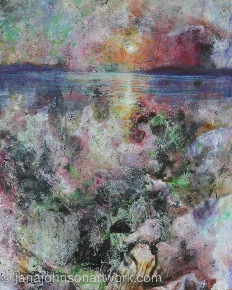"""Undersea Sunset"" original fine art by Jana Johnson"