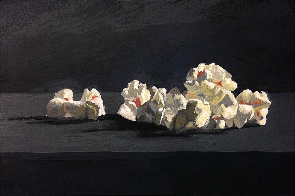 """The Difficulties of Painting Popcorn"" original fine art by Chris Beaven"