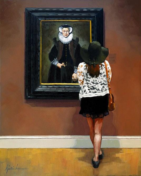 """""""Under One's Hat"""" original fine art by Karin Jurick"""