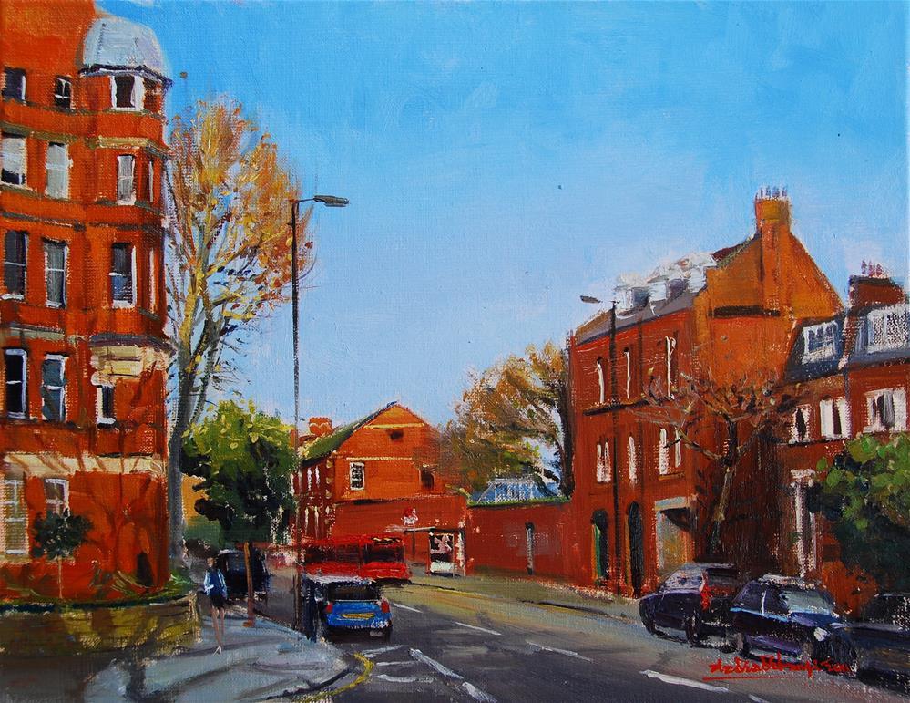 """Royal Hospital Road, Chelsea"" original fine art by Adebanji Alade"
