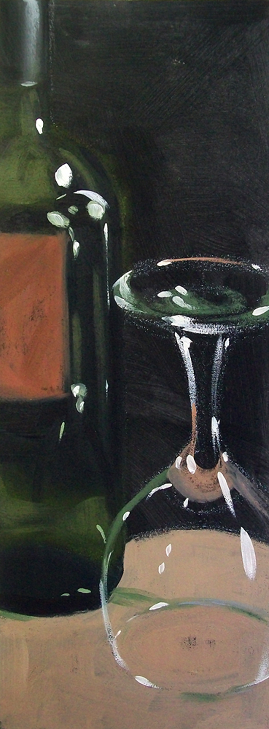 """wino 3"" original fine art by Brandi Bowman"