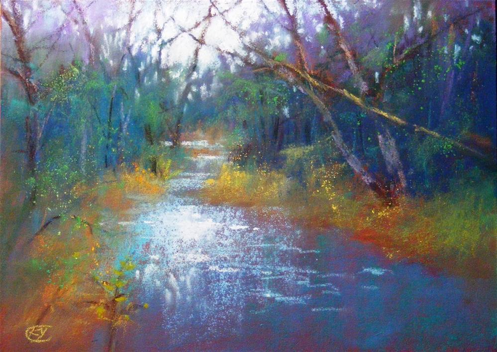 """Memory of swane creek"" original fine art by Celine K.  Yong"