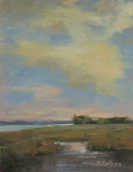 """Afternoon on the Marsh"" original fine art by Kathy Collins"