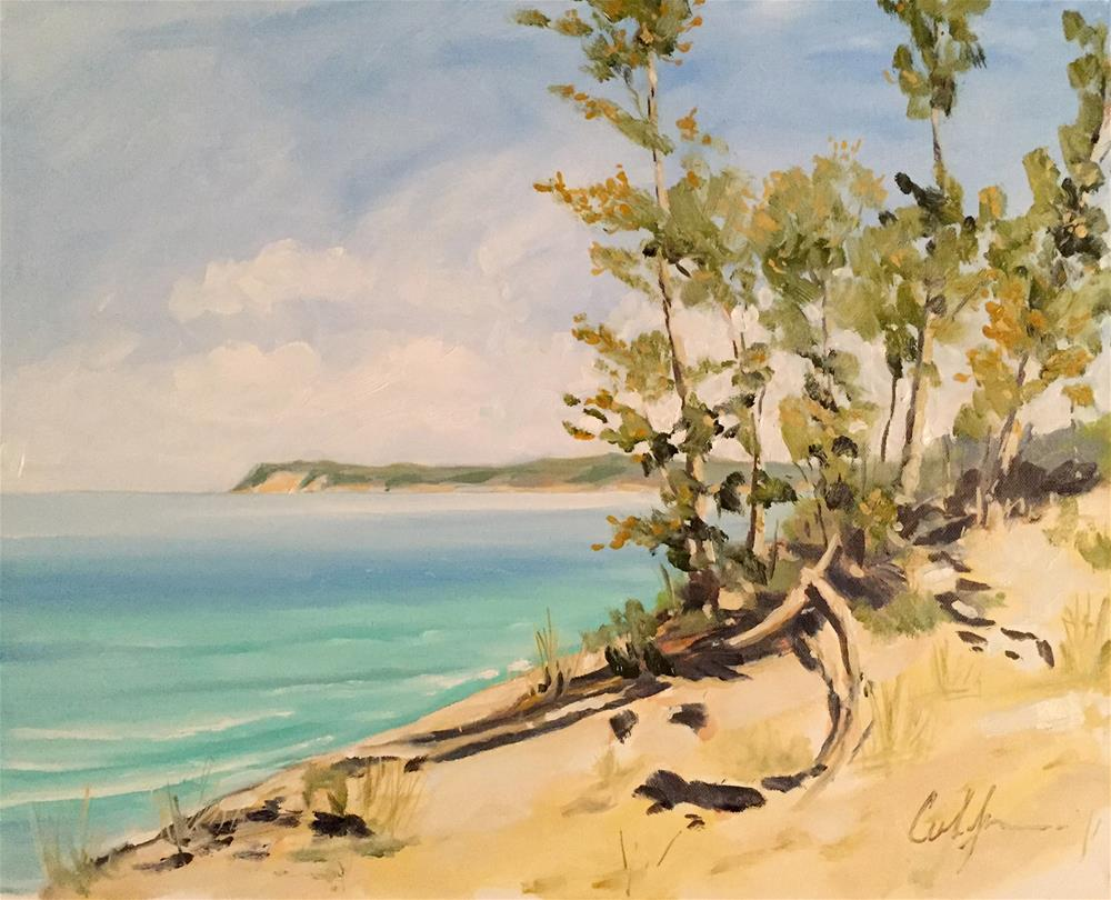 """If You Seek a Peninsula – Sleeping Bear Dunes"" original fine art by Cornelis vanSpronsen"