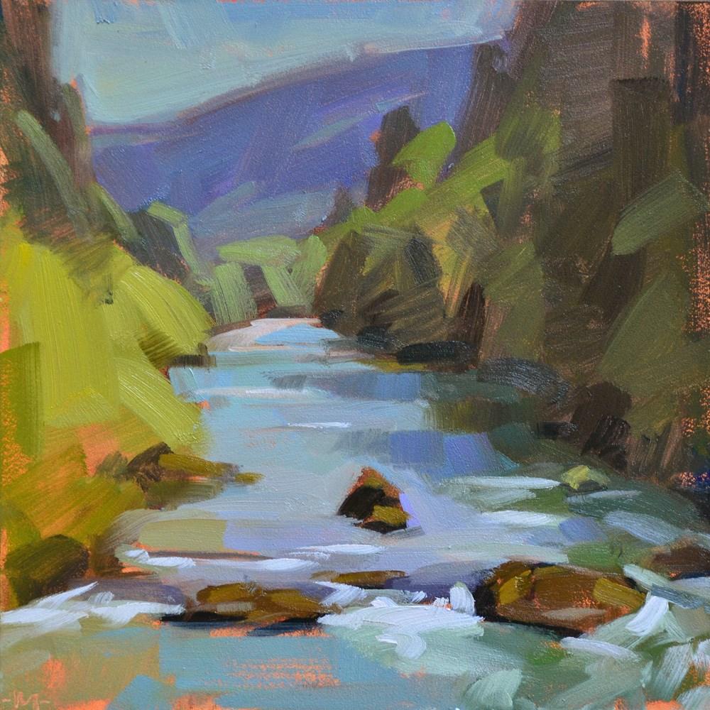 """Row River"" original fine art by Carol Marine"