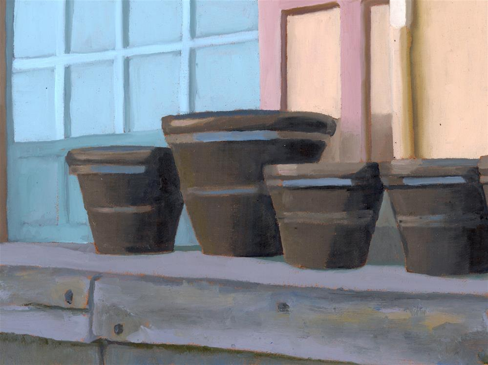 """Monumental Pots"" original fine art by Nancy Herman"