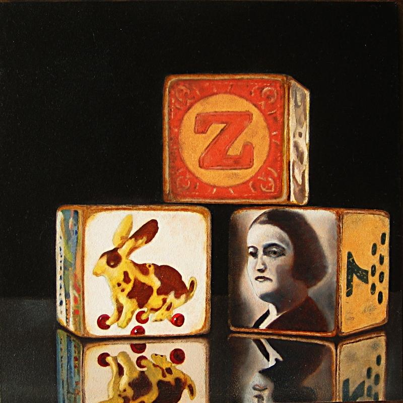 """Memory Blocks"" original fine art by Alex Zonis"