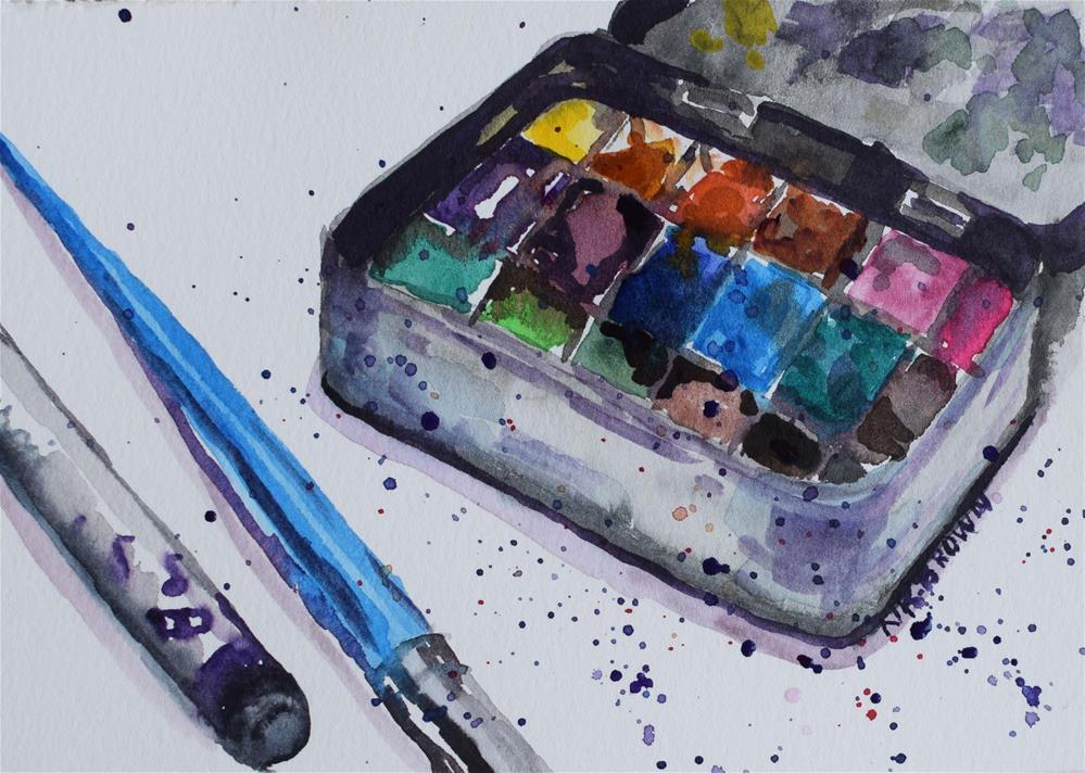 """Watercolor Box"" original fine art by Nancy Brown"