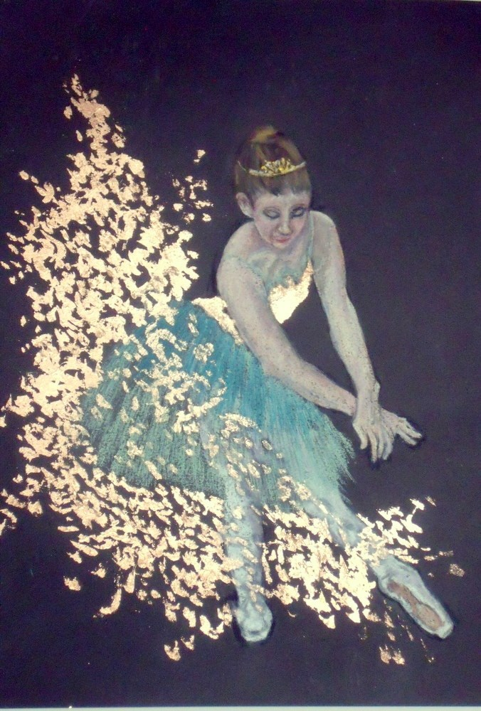 """Splash Ballerina"" original fine art by Nelvia McGrath"
