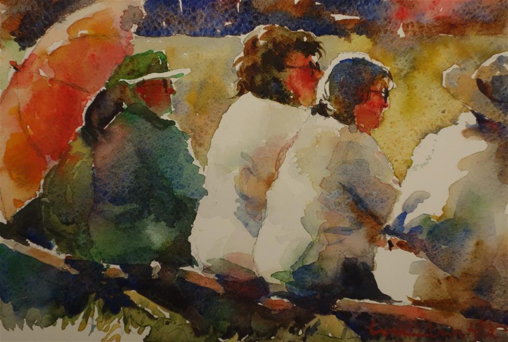 """Taking the Strain"" original fine art by Lorraine Lewitzka"