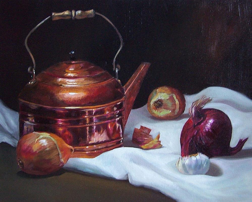 """Copper and Onion"" original fine art by Donna Munsch"