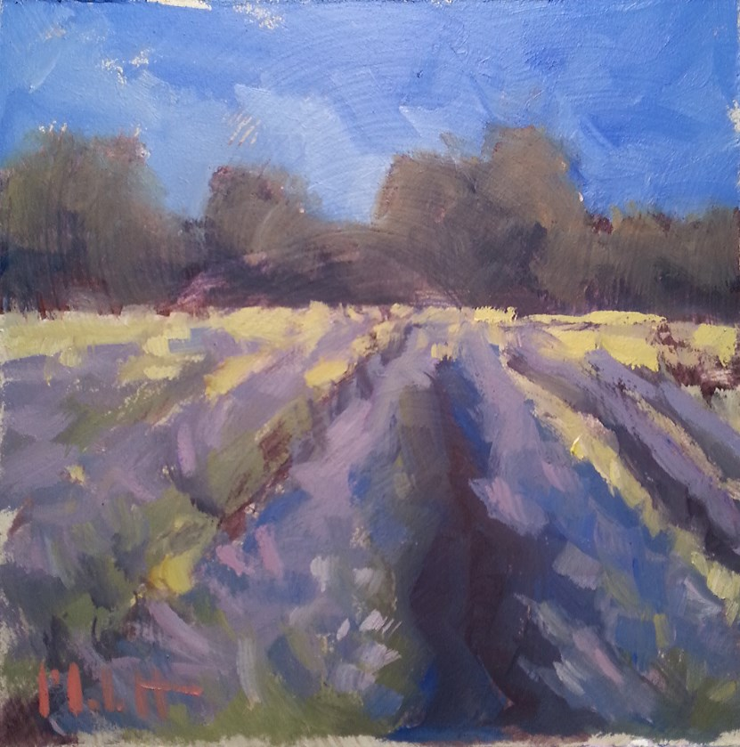 """French Lavender Fields Impressionism Original Oil Painting"" original fine art by Heidi Malott"