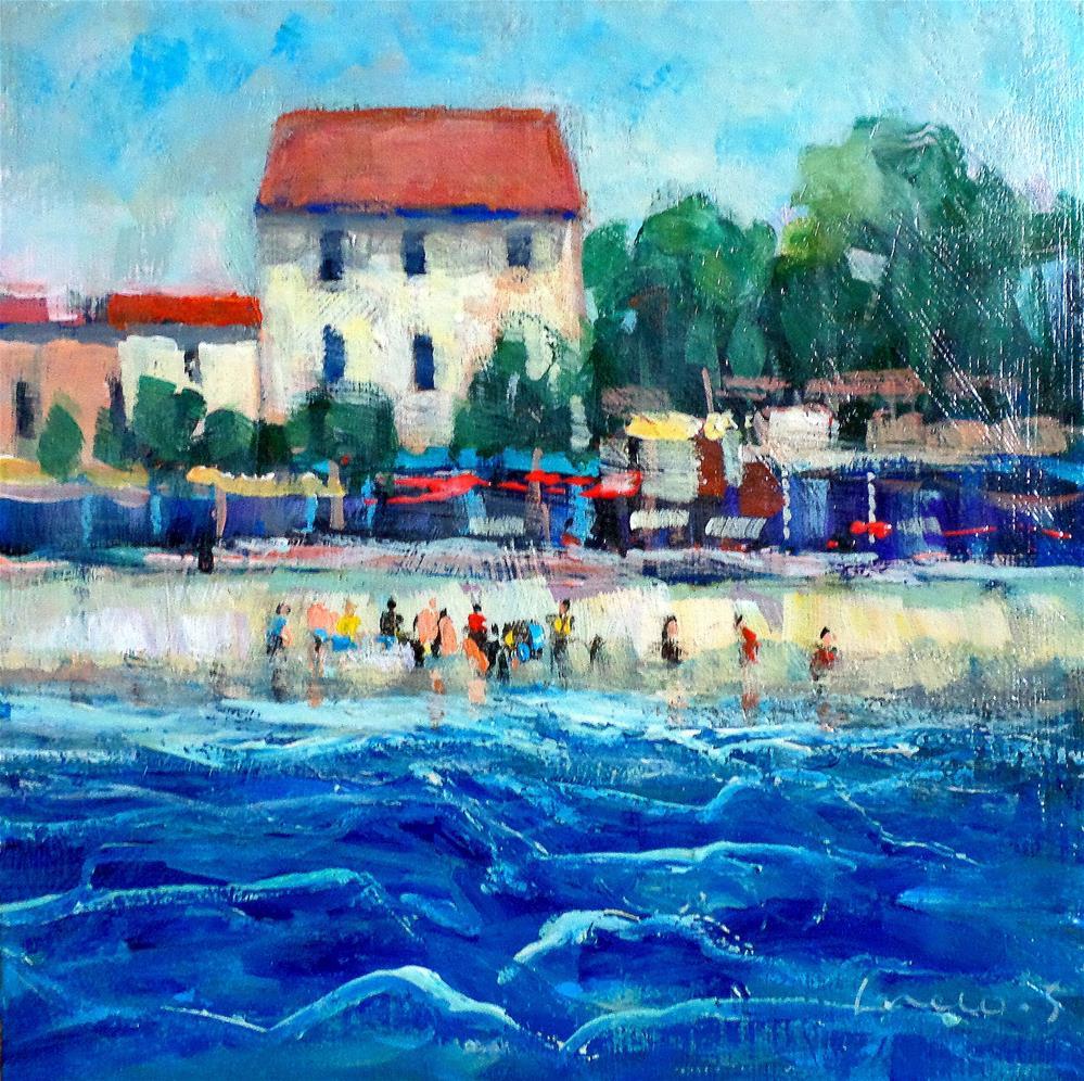 """""""Sea side"""" original fine art by salvatore greco"""