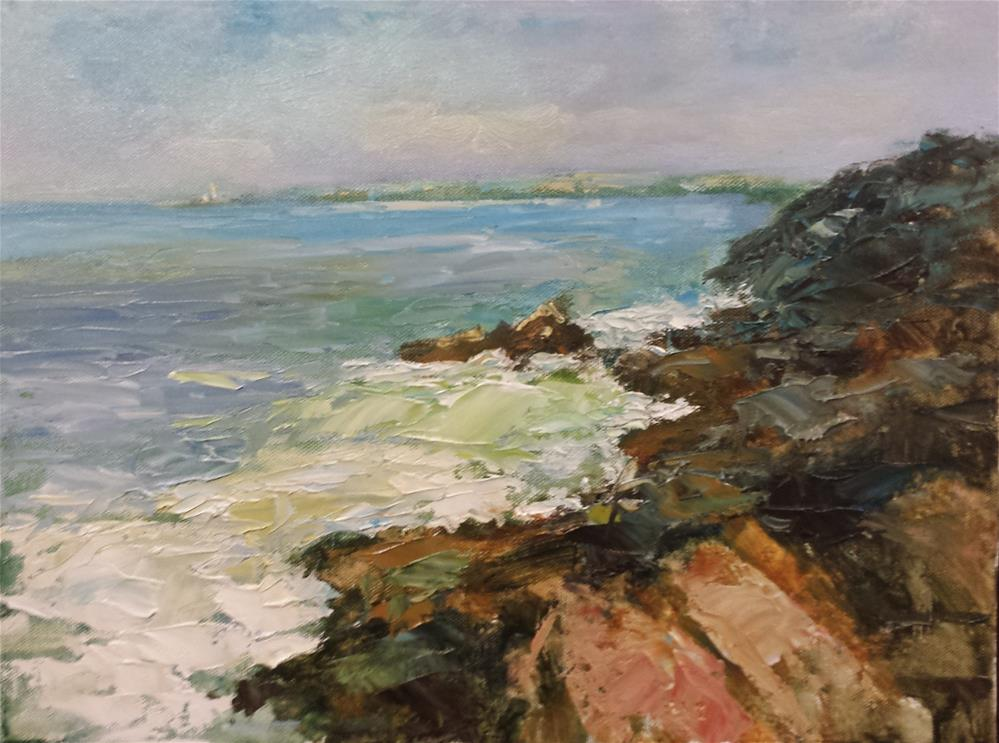 """Towards Godrevy"" original fine art by John Shave"
