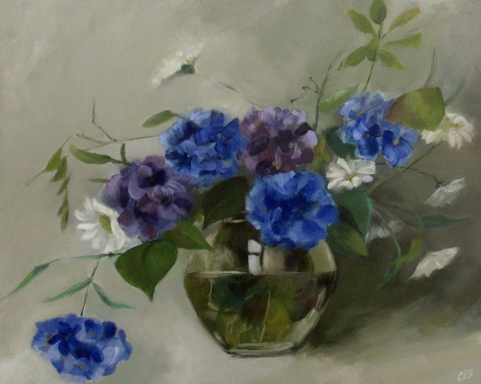 """Hydrangea Bouquet"" original fine art by ~ces~ Christine E. S. Code"