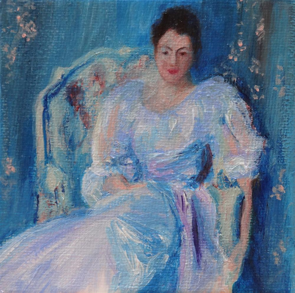 """4010 - Lady in Lilac after Sargent - Mini Master Series"" original fine art by Sea Dean"