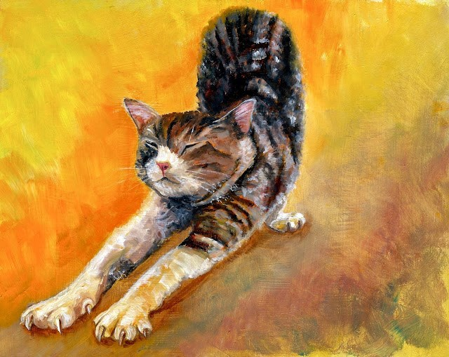 """The Stretch"" original fine art by Karen Robinson"