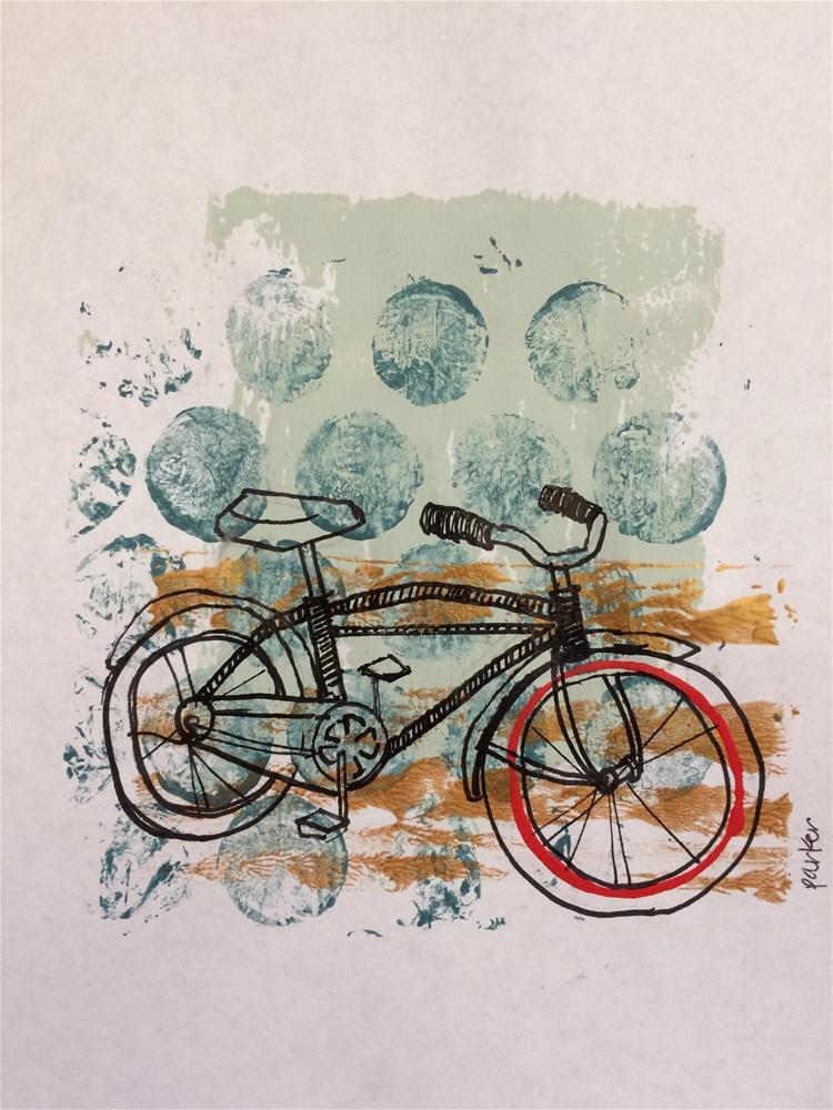 """Bike Print No.1"" original fine art by Teddi Parker"