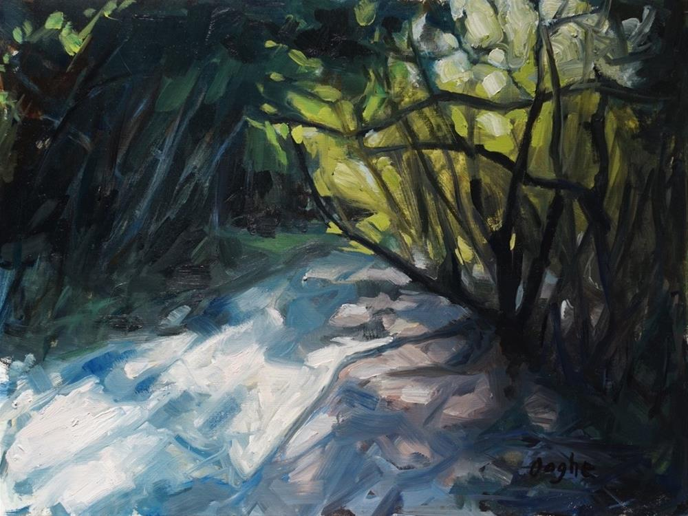 """Dappled Sunlight"" original fine art by Angela Ooghe"