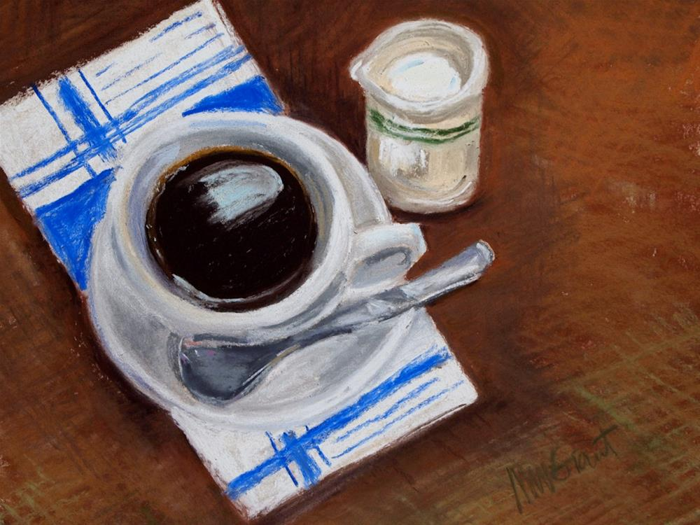 """Coffee and Cream"" original fine art by Michelle Wells Grant"