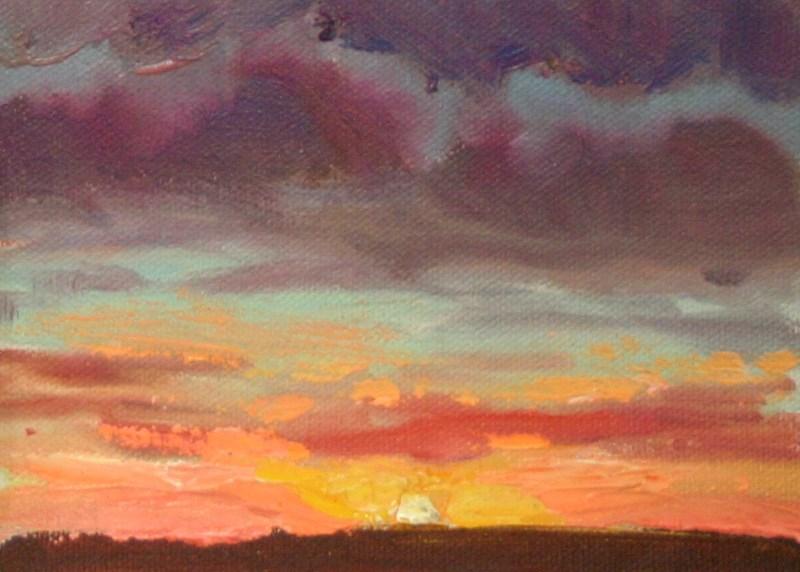 """Sunset in Orange and Purple"" original fine art by K.R. McCain"