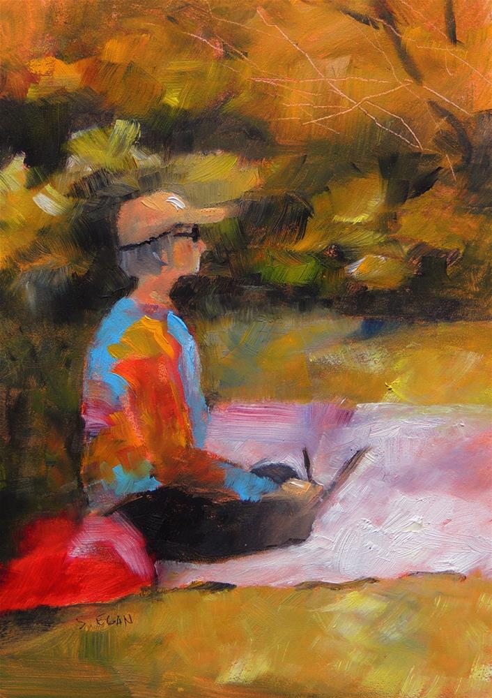 """Artist at Work"" original fine art by Sharon Egan"