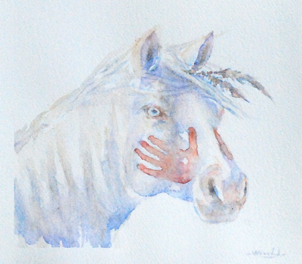 """blue eyes"" original fine art by Vicki Wood"