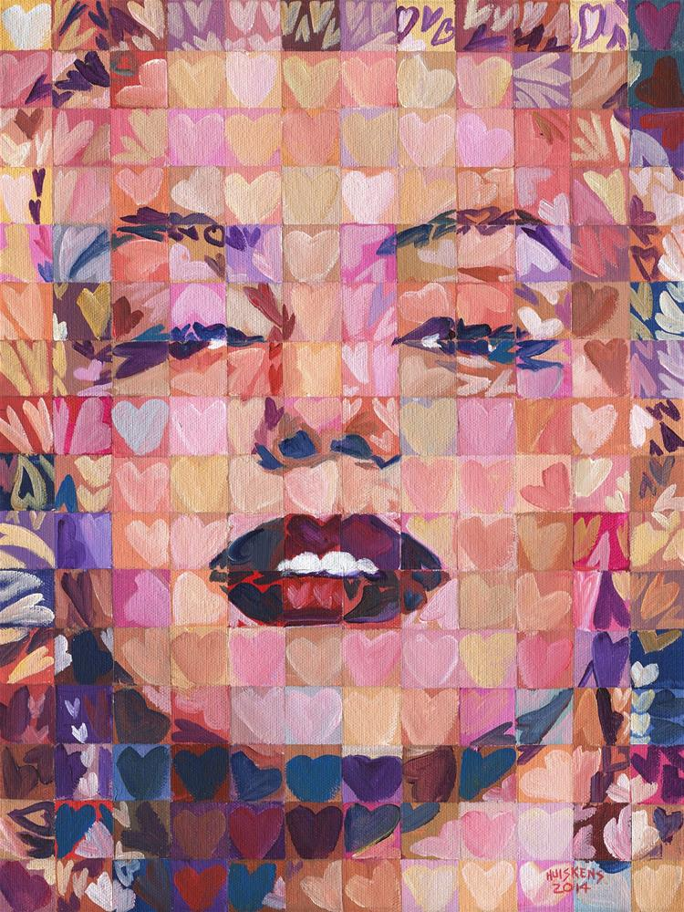 """I ♥ Marilyn  #4"" original fine art by Randal Huiskens"