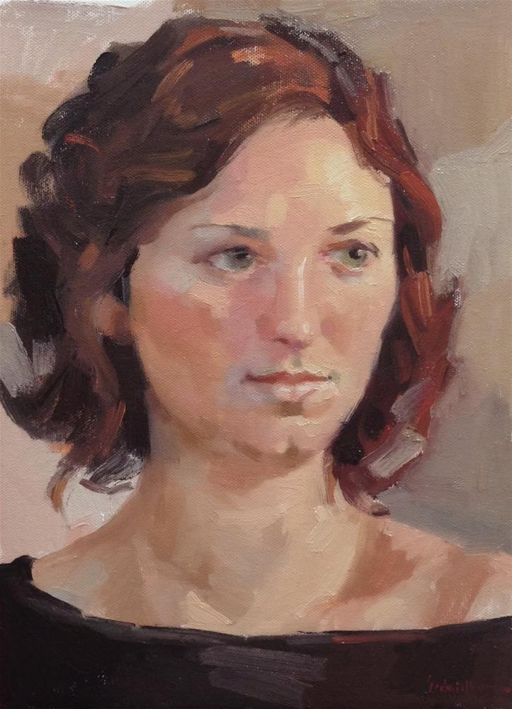 """Exploring the Zorn Palette Portrait"" original fine art by Sarah Sedwick"