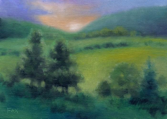 """""""August Plein Air #2"""" original fine art by Barbara Fox"""