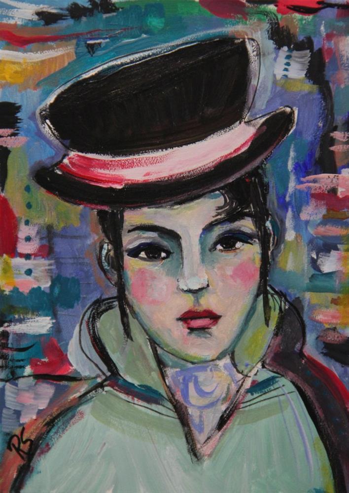 """Julienne"" original fine art by Roberta Schmidt"