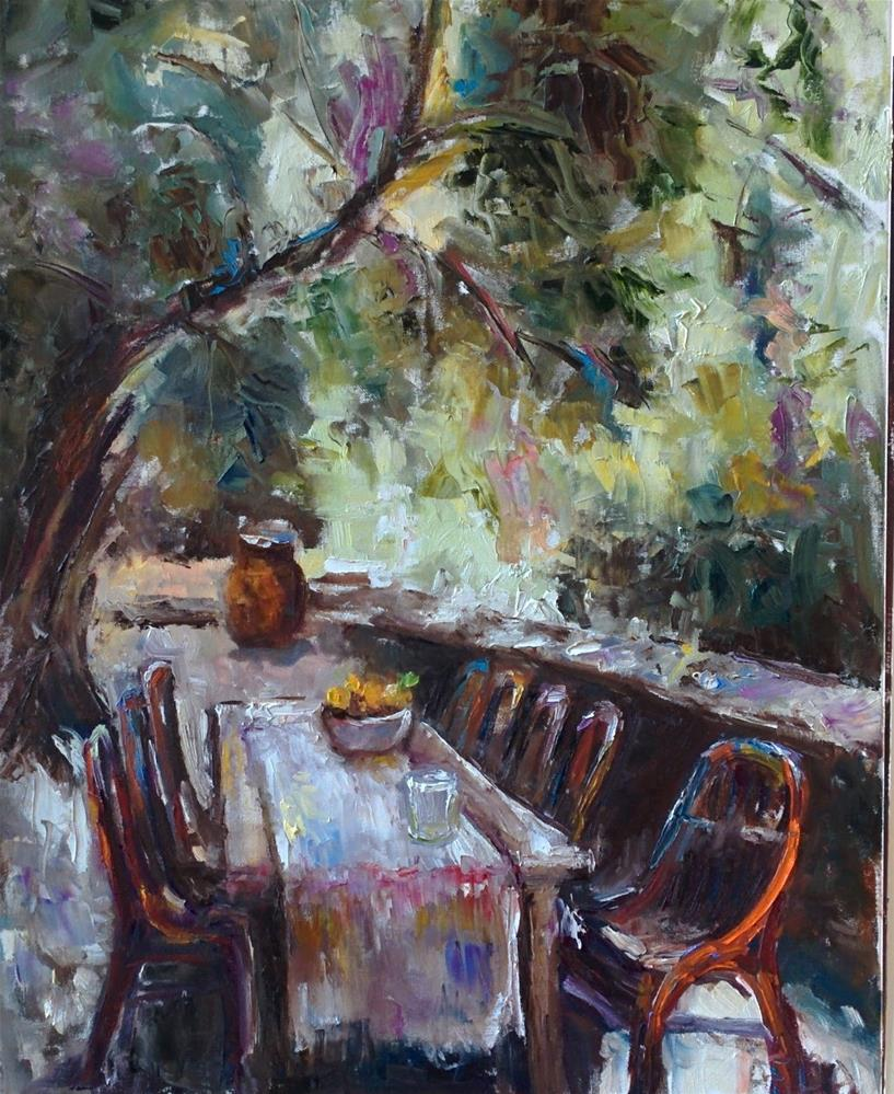 """Alfresco Mood "" original fine art by pepa sand"