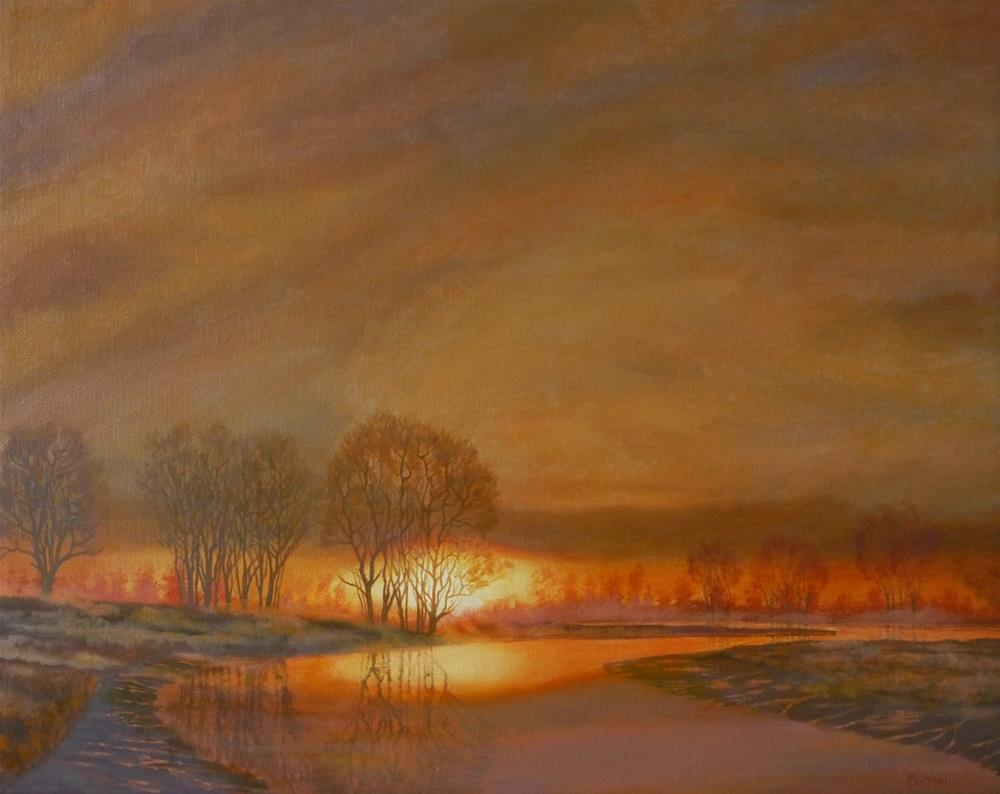 """With the Sun and the Mist Rising"" original fine art by Peter Lentini"