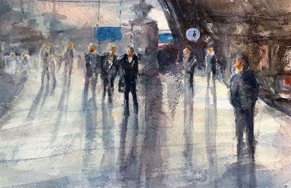 """""""HAMBURG STATION"""" original fine art by Ferran Llagostera"""