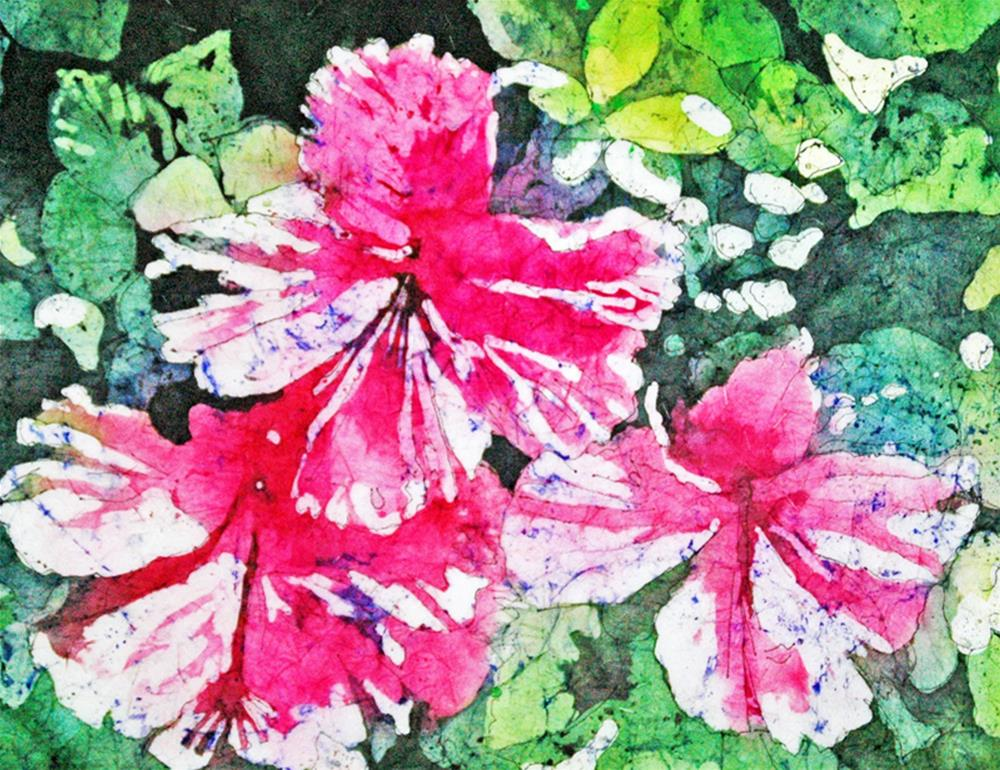 """""""Hibiscus in the Sun"""" original fine art by Diane Fujimoto"""