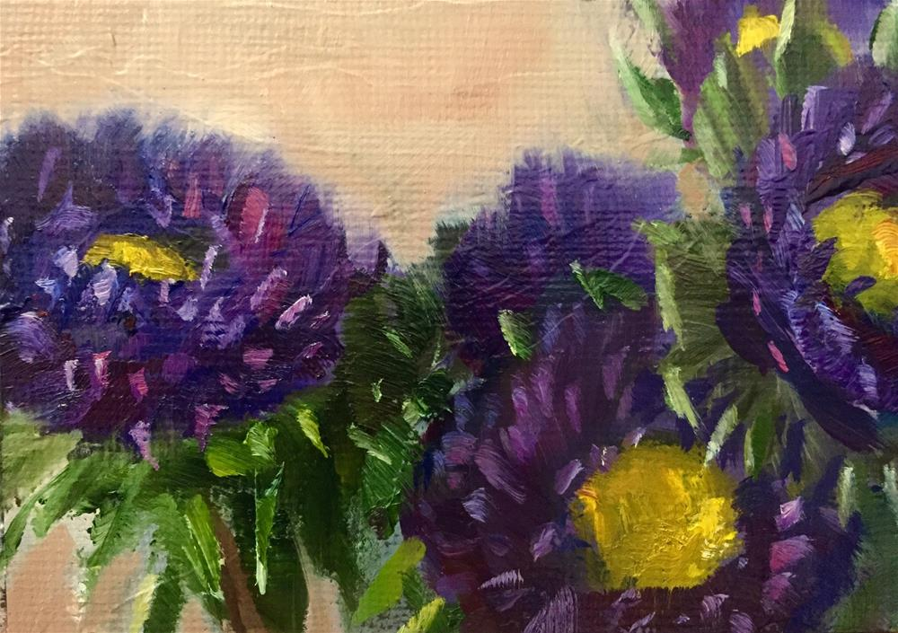 """Asters"" original fine art by Gary Bruton"