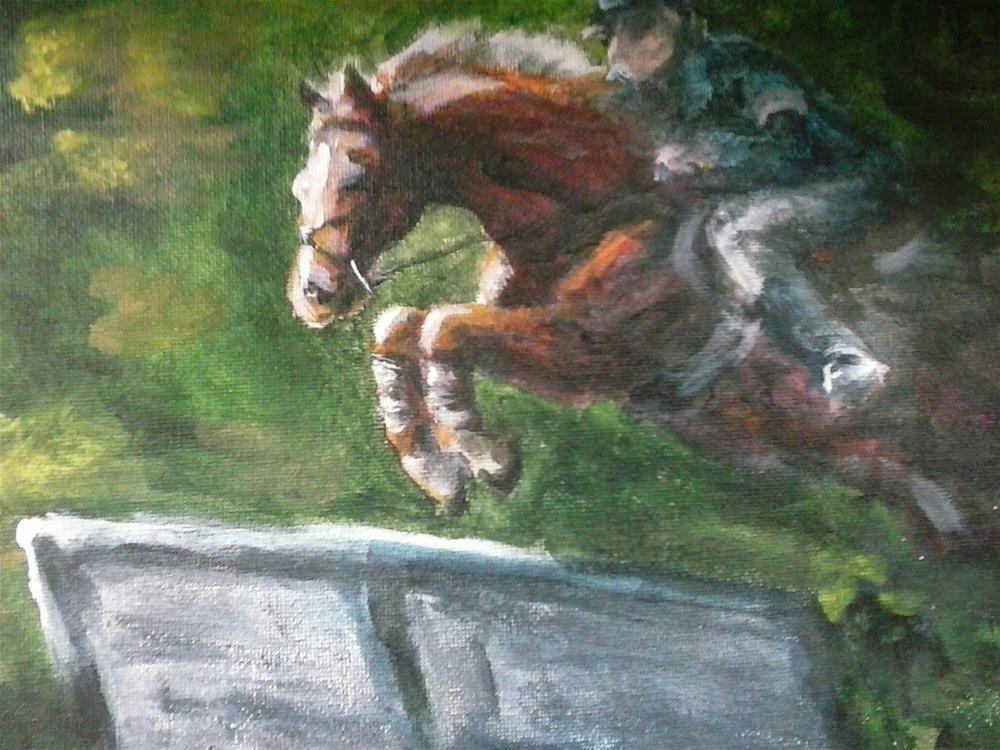 """i jump"" original fine art by Kate Less-Madsen"