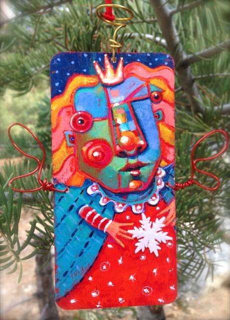 """""""Limited Edition Angel Ornament"""" original fine art by Brenda York"""