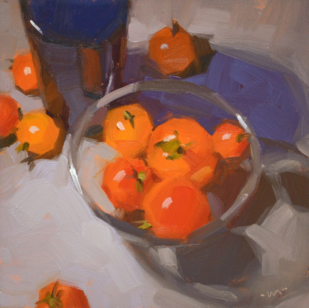 """Cherry Tomato Goodness"" original fine art by Carol Marine"