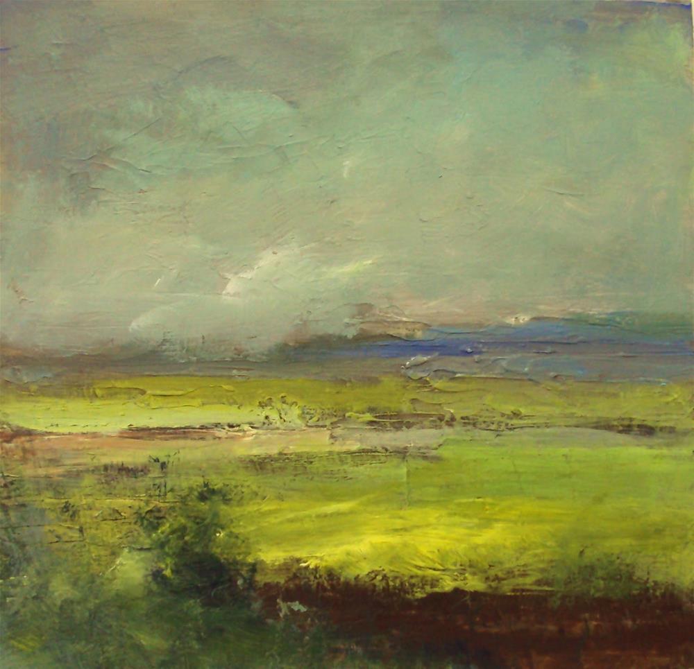 """yellow farmlands"" original fine art by Parastoo Ganjei"
