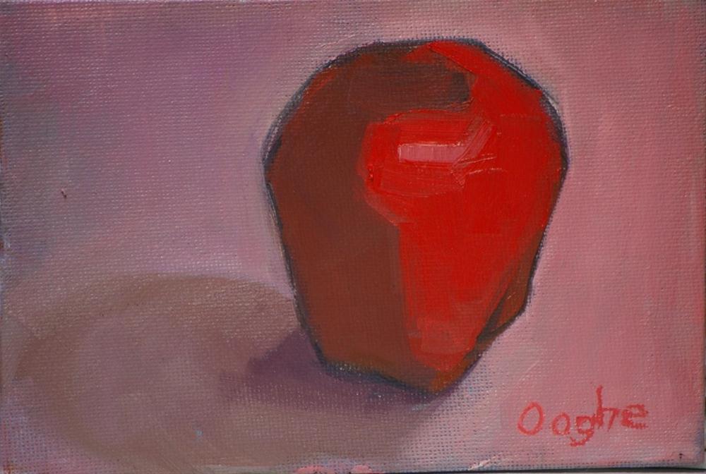 """Simplified Apple"" original fine art by Angela Ooghe"