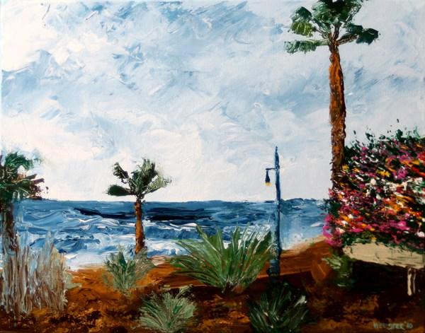 """Mark Adam Webster - Canary Islands Palette Knife Acrylic Landscape Painting"" original fine art by Mark Webster"