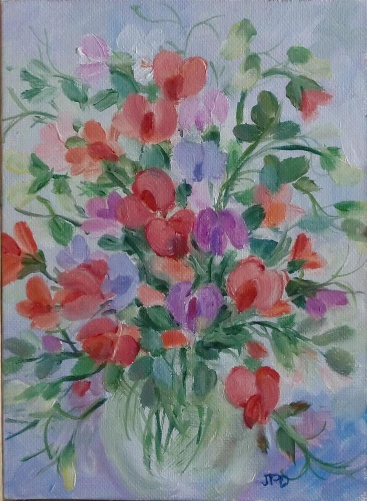 """Sweet Peas"" original fine art by Jean Pierre DeBernay"