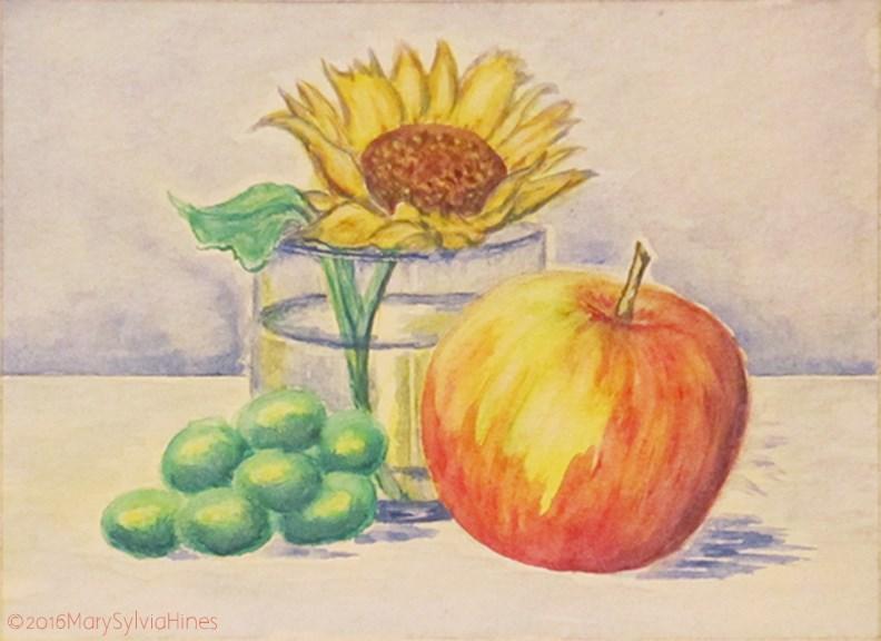 """""""StillLifev4-Mini"""" original fine art by Mary Sylvia Hines"""