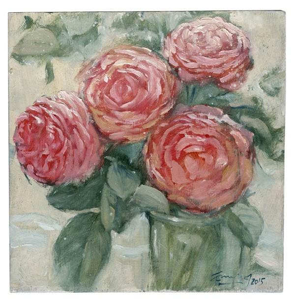 """Rosas Borbonianas"" original fine art by Emilio López"