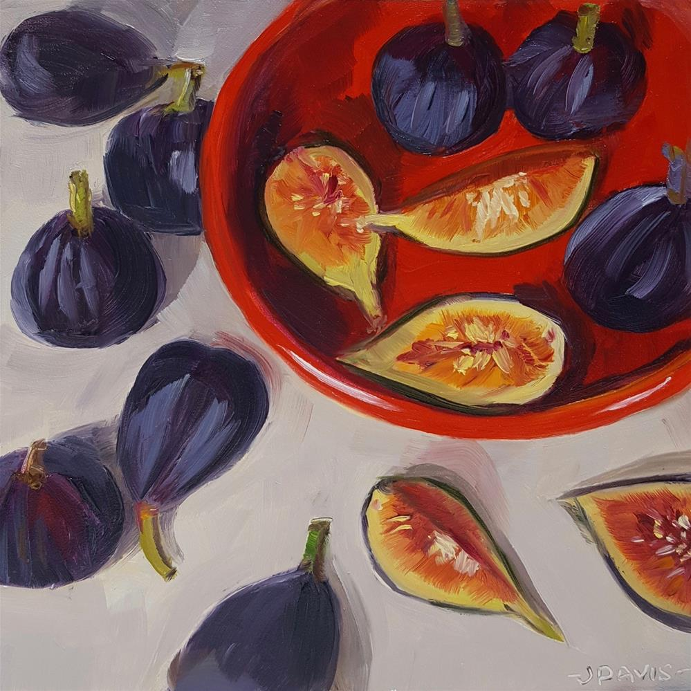 """Luscious Figs"" original fine art by Jacqueline Davis"