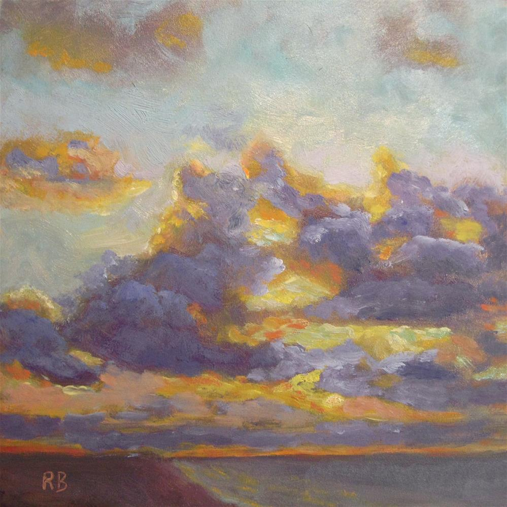 """Cielo - Clouds at Sea"" original fine art by Robie Benve"