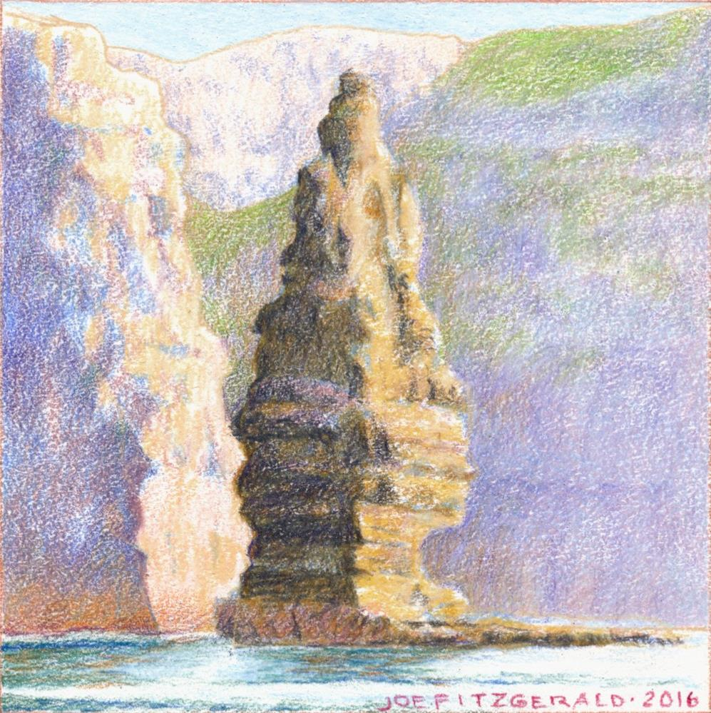 """Sailing Round Moher VII"" original fine art by Joe Fitzgerald"